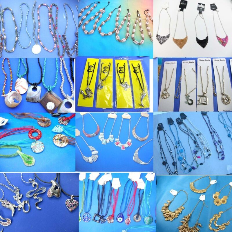 Wholesale fashion necklaces 50 pieces many designs mixed -
