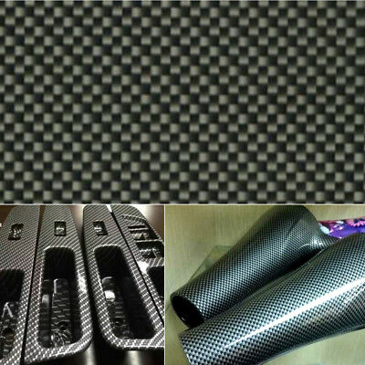 Black Carbon Fiber Water Transfer Dipping Hydrographics Hydro Film 100x50cm