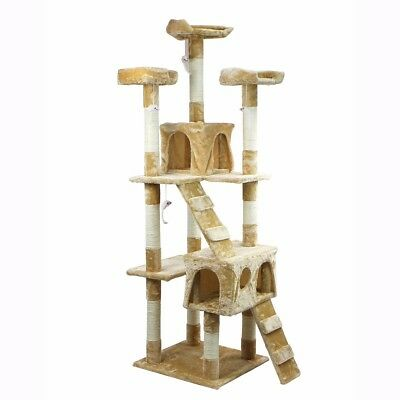 67'' Cat Tree House Furniture Post Condo Pet Play Scratching Scratch Tower New