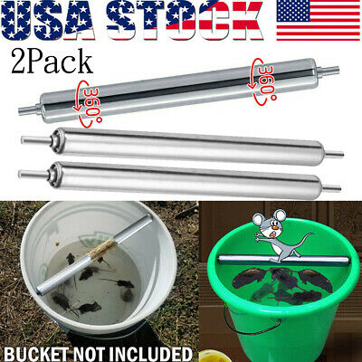 2PACK Mice Rats Mouse killer Roll Trap log Grasp Bucket Rolling Roller USA