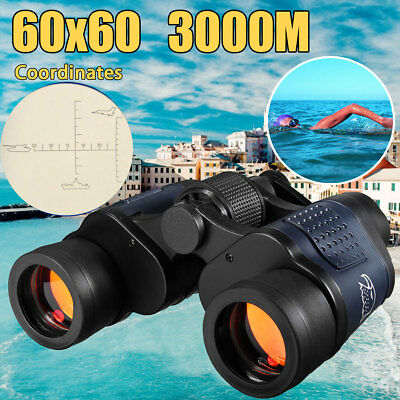 60x60 Day/Night Military Army Zoom Powerful Binoculars Optics Hunting Camping