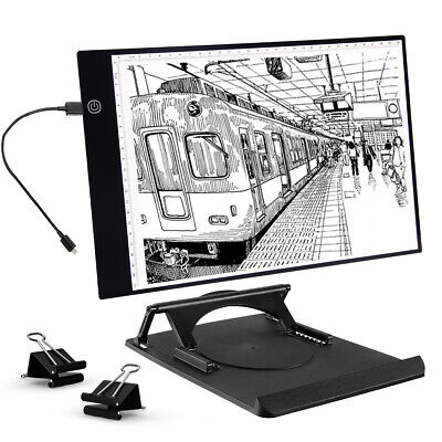 A4 LED Light Box USB Graphics Tablet Light Board Dimmable Brightness Drawing Pad