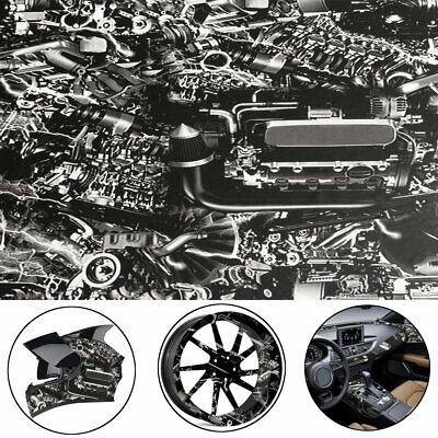 Hydrographic Engine Machine Style Water Transfer Hydro Dipping Dip Print Film 1m