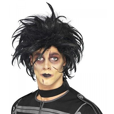 Edward Scissorhands Wig Adult Gothic Halloween Costume Fancy Dress