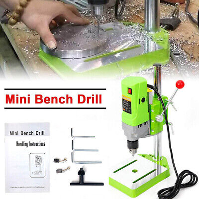 Electric Mini Metal Bench Drilling Machine Bench Drill Press Stand Table 110v