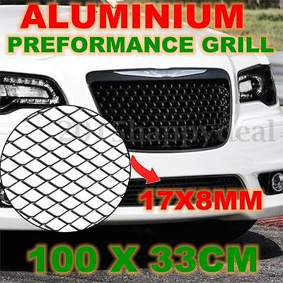 Aluminium racing grille mesh vent car tuning grill silver colour size 100cm x 33