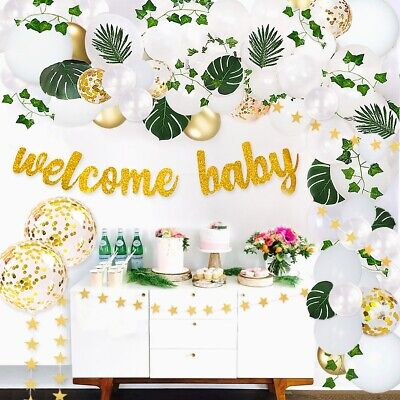 Gender Neutral Baby Shower Party Decorations (Gender Neutral Greenery Baby Shower decorations kit With Banner And)