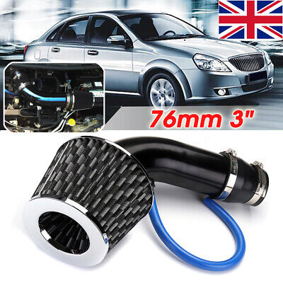Universal Car Turbo Cold Air Intake Induction Hose Pipe Kit System & Filter 3.0