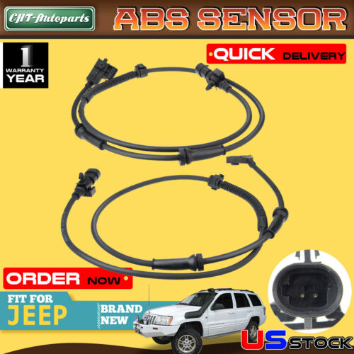 2pcs ABS Speed Sensors for Jeep Grand Cherokee 1999-2004 Front Left and Right