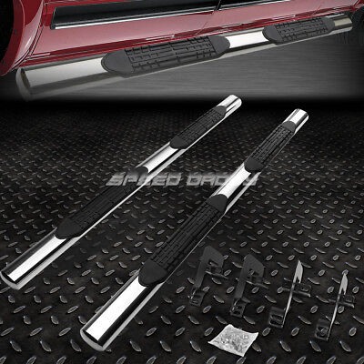 "FOR 04-14 FORD F150 EXT/SUPER CAB 4""OVAL CHROME SIDE STEP NERF BAR RUNNING BOARD"