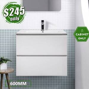 600mm Wall Hung Drawer Cabinet 2pack Bathroom Vanity Mia *CLEARANCE*