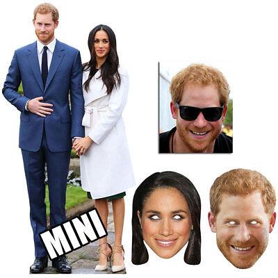 Boda Real Príncipe Harry & Meghan Markle Cartón Recortado & Máscara Bronce