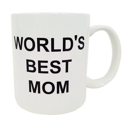 World's Best Mom Coffee Mug Michael Scott The Office TV Cup Mother's Day (The World's Best Mom)