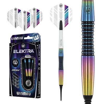 Winmau Elektra Softdarts 20 gramm Dartpfeile 90% Tungsten Softt Darts Griffmulde
