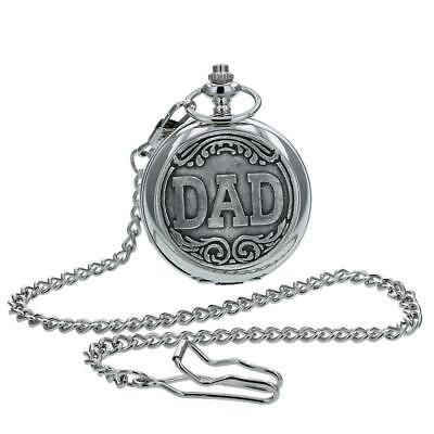 Boxx Regalo Día Del Padre Plateado ' Papá ' de Caballero Reloj...