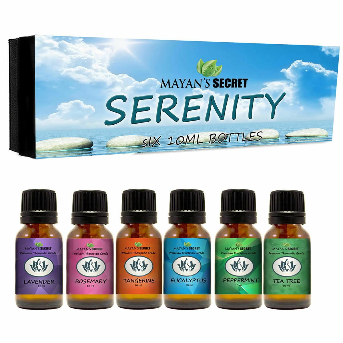 Premium Grade Essential Oils-Serenity- Gift Set 6/10ml Pure Essential Oils Candle Making & Soap Making