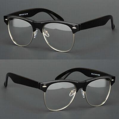 New Clear Lens Glasses Mens Women Nerd Horn Frame Fashion Eyewear Designer (Retro Clear Glasses)
