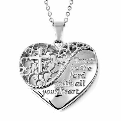 """Stainless Steel Valentine Heart Pendant Necklace Mothers Day Gifts Size 20"""""""