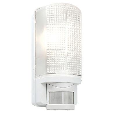 SAXBY Modern Outdoor White IP44 Motion Sensor PIR Bulkhead Security Wall Light