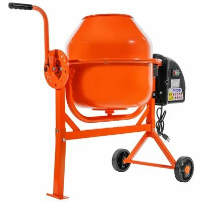 Portable 2-15cu Ft Electric Concrete Cement Mixer Barrow Machine Mixing Mortar
