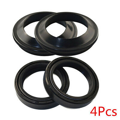 Durable Motorcycle 2Pcs Oil Seal&2Pcs Dust Seal Front Fork Damper Shock Absorber