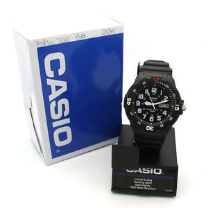 New-Casio-MRW200H-Mens-100M-Black-Diver-Classic-Sports-Watch-Black-Dial