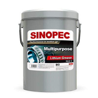 Sinopec Multipurpose Red Lithium Grease Automotive Cars Tires Lubrication 5 Gal