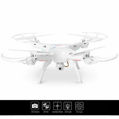 Syma X5SW WIFI FPV 2.4Ghz 4CH 6-Axis RC Quadcopter Drone Camera HD White RTF