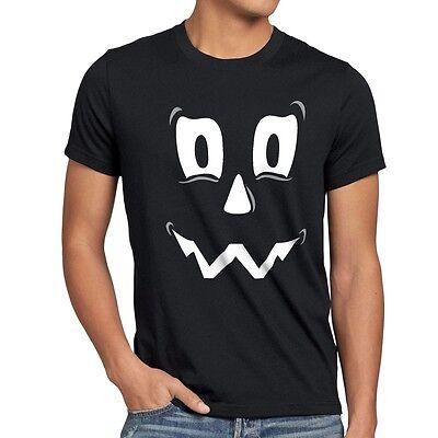 Spuk Geist Halloween Herren T-Shirt Fasching Kostüm Kürbis-Kopf - Herr Kürbiskopf Kostüm