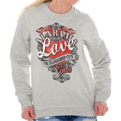 Alabama Sweatshirt (Alabama Yellowhammer State Fashion Souvenir Sweat Shirt Sweatshirt For Womens)