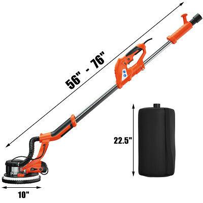 750w Electric Drywall Sander Adjustable Variable Speed W Vacuum Led Light