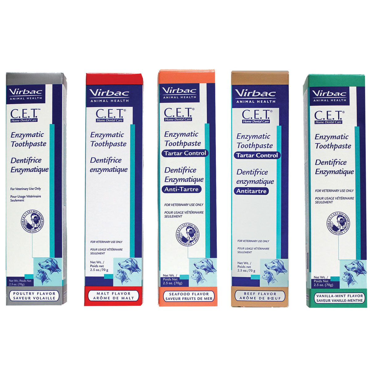 CET Enzymatic Toothpaste for Dogs & Cats Choose from 5 Flavors