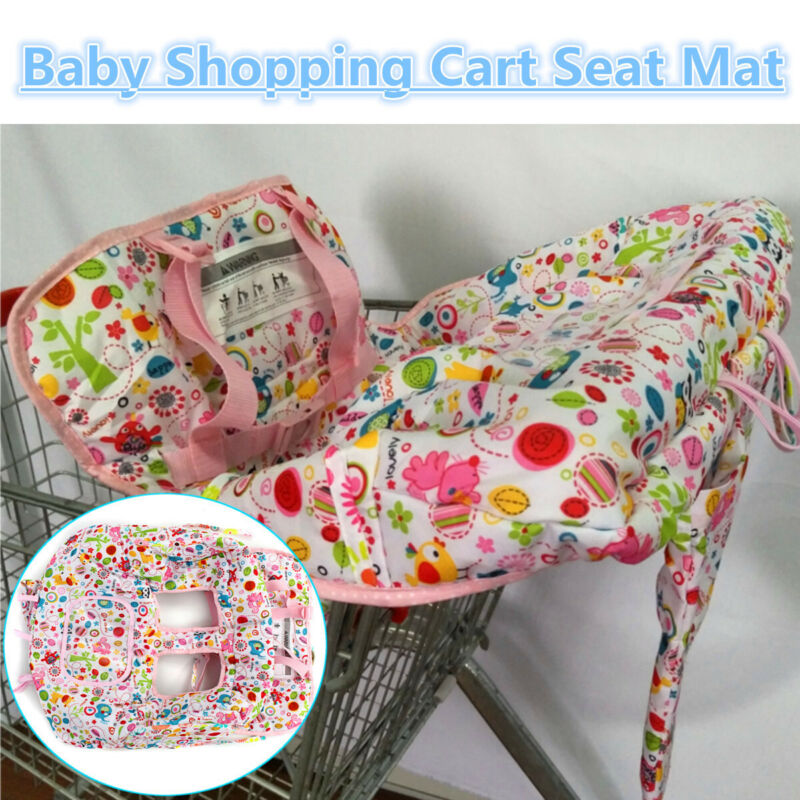 Baby Kid Market Shopping Trolley Cart Cover Seat Child Chair Protective Foldable