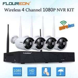4CH 1080P NVR HD 2MP WIFI Wireless Security Camera System Home Su Doveton Casey Area Preview