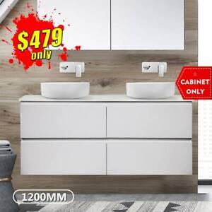 *CLEARANCE* Bathroom Vanity 1200mm Wall Hung Double Cabinet 2pack Mia