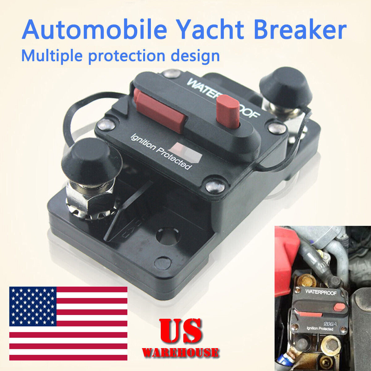 12V 200A Car Circuit Breaker Self Reset Electrical System Protection