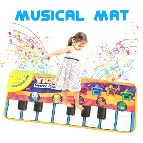 Musical Piano Mat Kids Toddler 5 Modes Play Animal Music Educational Toy Gift US