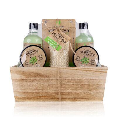 Wellness Geschenkset für Frauen Olivenöl 6-teilig Pflegeset in schöner Holzbox