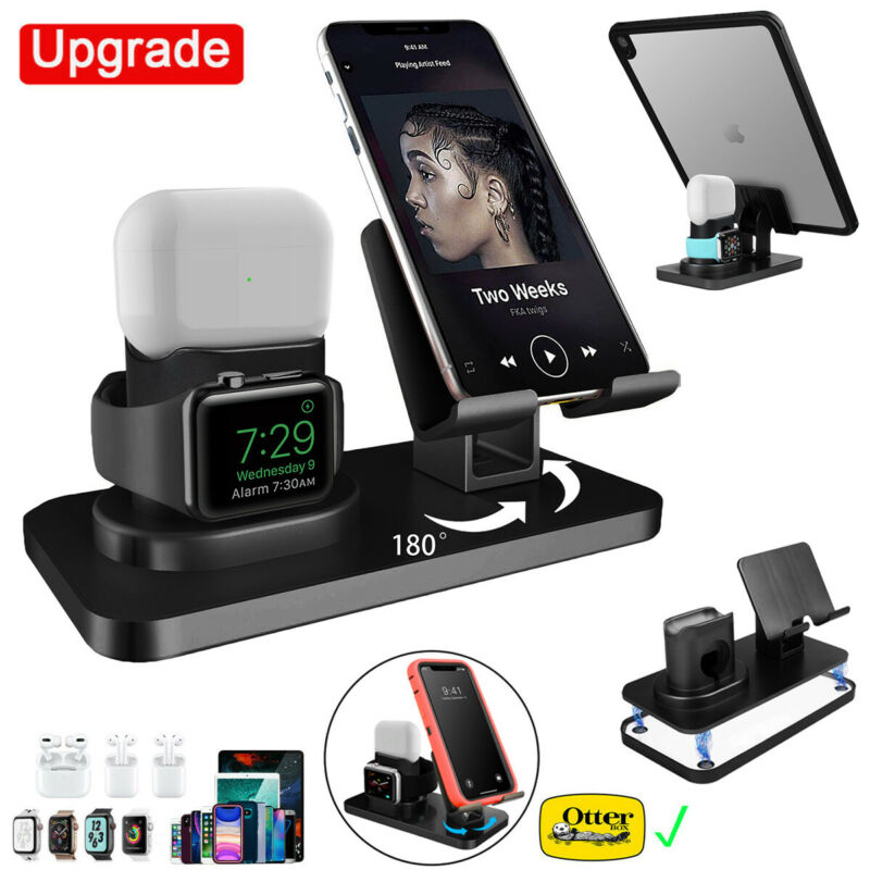 3in1 Universal Charging Dock Station Holder Stand for iPhone Apple Watch AirPods
