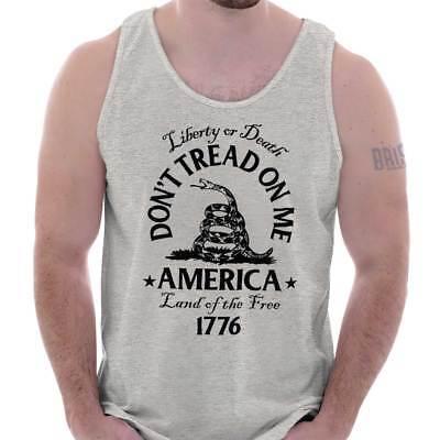 Gadsden Flag Dont Tread On Me Culpeper USA Patriot Gift POTUS Tank Top ()