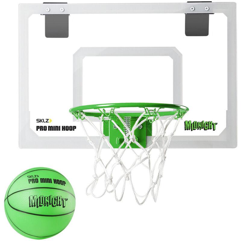 SKLZ Midnight Pro Mini Basketball Hoop - White/Green