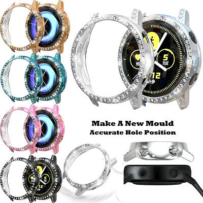 2Pack Bling Crystal Screen Protector Watch Cover For Samsung Galaxy Watch Active
