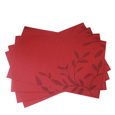 Red Placemats Heat Insulation Stain Resistant Washable Placemat Set of 4