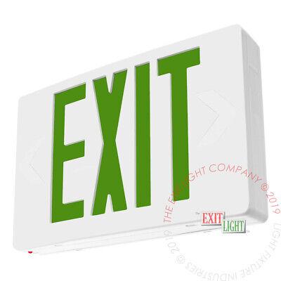 Green Led Emergency Exit Light Sign - Standard Battery Backup Ul924 - Ledgbb
