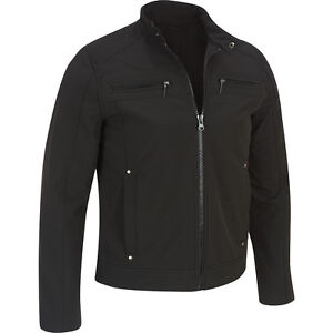 Men's Wilsons Leather Fabric Open-Bttm Moto Jacket #zDA