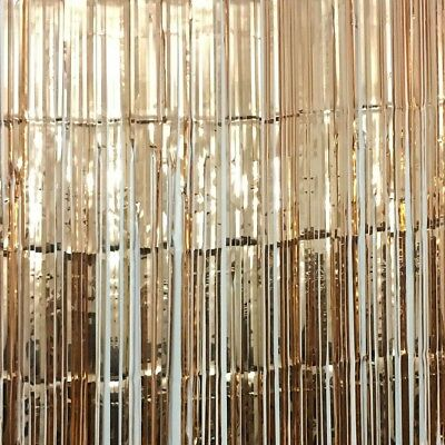 Rose Gold 3ft x 8ft Foil Fringe Curtain Glitter Metallic Tinsel Backdrop](Gold Metallic Fringe Curtain)