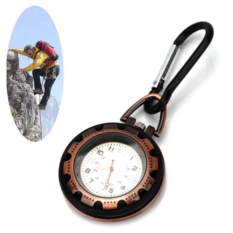 Clip on Carabiner Luminous Face Digital Watch FOB for Sport Nurses Paramedics