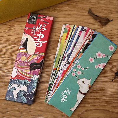 30Pcs Lot Cute Paper Bookmark Vintage Japanese Style Book Marks For Kid Supplies
