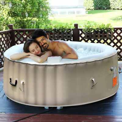 Inflatable Round Bubble Massage Spa  Pool Hot Tub Outdoor 4/6 People Relaxing