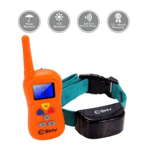 330 Yard Backlight Waterproof LCD Shock Vibra Remote Pet Dog Training Collar